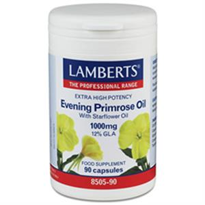 Lamberts Extra High Potency Evening Primrose Oil with Starflower Oil 1000mg