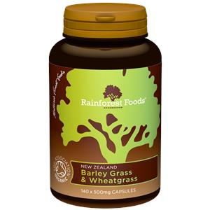 Organic New Zealand Barley Grass & Wheatgrass Capsules